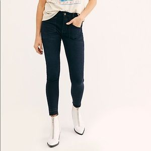 Free People ivy midrise skinny | blue